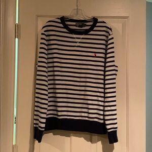 Blue and white strip sweater